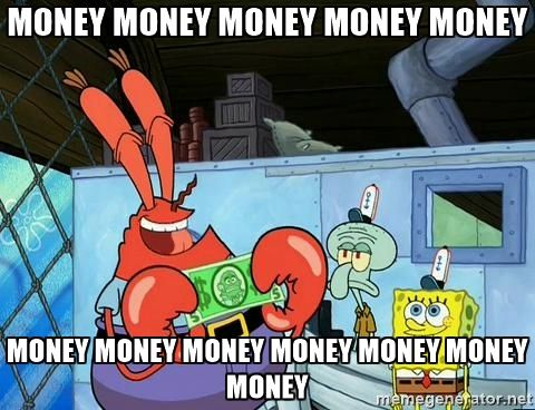 money meme spongebob