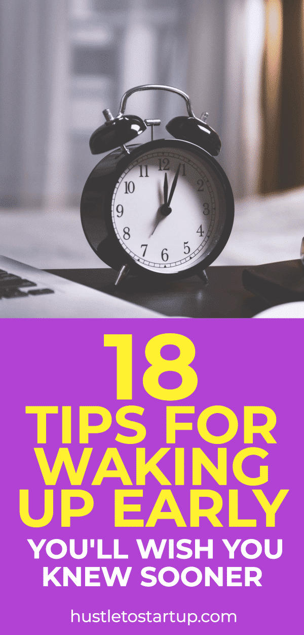tips for how to wake up early