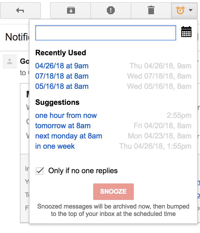 streak snooze gmail