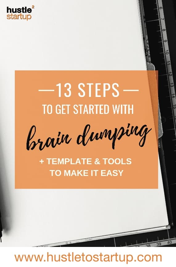 Do you need to clear out the clutter in your brain so you can focus? Find out how to use braindumping to get a jump start on productivity! |#braindumping | #timemanagement | #getorganized