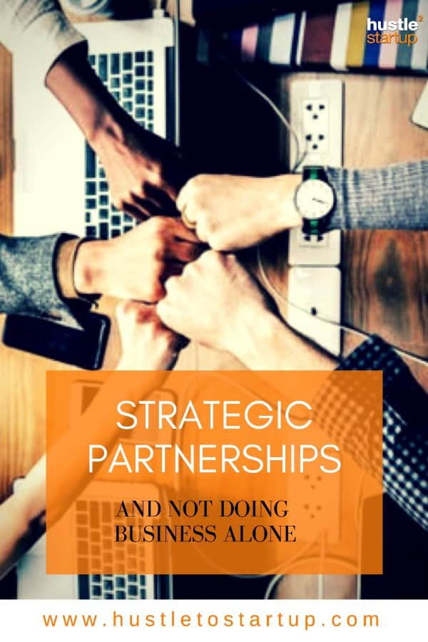 You can't do business alone! Learn about different types of strategic partnerships that you can build to increase sales, build your brand and make more money! #smallbiz #partnerships #makemoney