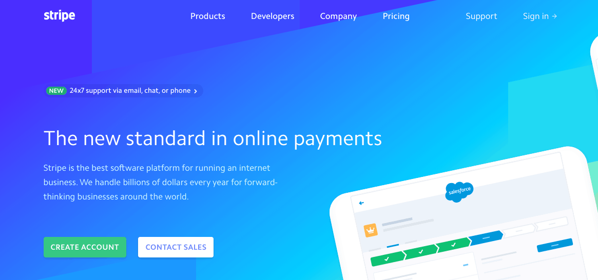 stripe payment processing