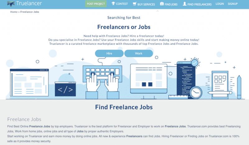 truelancer freelancer site